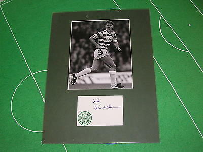 Brian McClair Signed Glasgow Celtic 1984/85 Season Press Photograph Mount