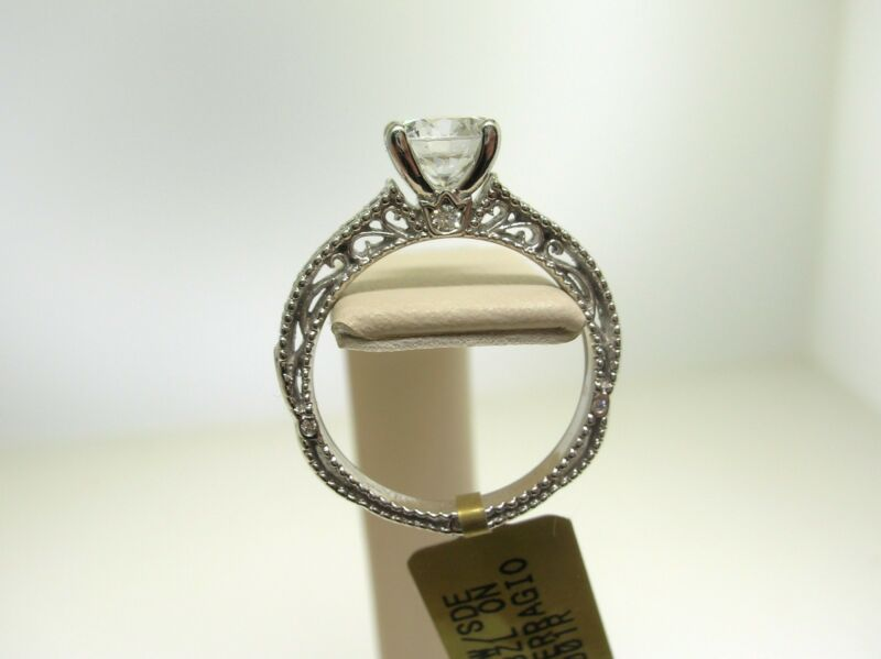 Verragio 18k W/g Venetian 5001r Mount 0.20 Ct Diamonds -size 6 Us- Retail $2450