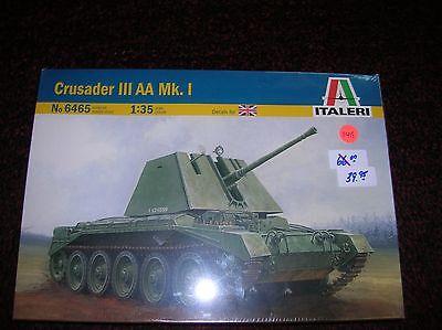 Italeri 6465 Crusader III AA MK.1 British list $66.00 1/35 lot 11419