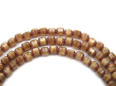 45 Czech Glass Smooth Cathedral FP Beads 4mm Isabelle Opaque Bronze Picasso,P206