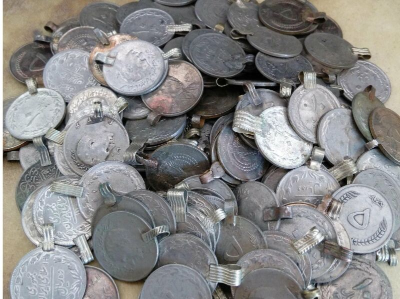 100 XL Vintage Kuchi Tribal Coins