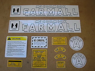 Ih Mccormic Farmall Super A New Decal Set For Tractors  19-17-18
