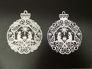 Christmas Nativity Scene Metal Cutting Die - Large size - Bauble - Ornate