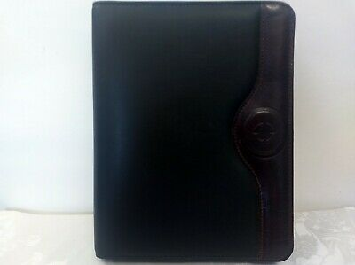 Franklin Covey Two-tone Full Grain Leather Calf Skin Trim 7-ring Binder Planner