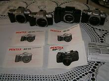 4 PENTAX SLR 35MM FILM CAMERA BODIES 3 MZ50 AND SF7 Greenfield Park Fairfield Area Preview