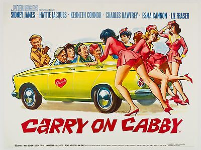 """Carry on Cabby 16"""" x 12"""" Reproduction Movie Poster Photograph 2"""