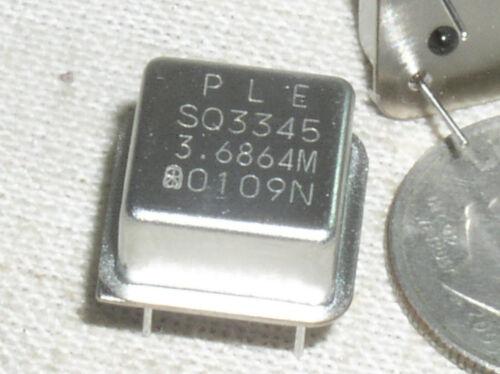 2 PLE PLETRONICS SQ3345 3.6864M MHZ CRYSTAL CLOCK OSCILLATOR 5V CMOS TTL USA