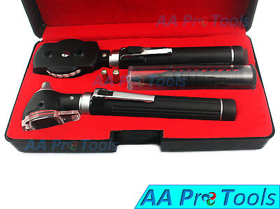 Otoscope Ophthalmoscope Fiber Optic Examination Led Ent Diagnostic Medical Set