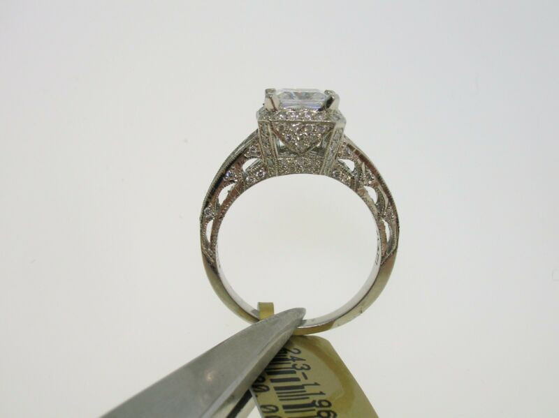TACORI PLATINUM SEMI-MOUNT 0.92 CTW DIAMONDS - SIZE 6.5 US - RETAIL $7980.00!!!!
