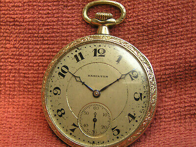 Nice Old & Vintage Hamilton Pocket watch 99 Years Old !! - L@@K -B71