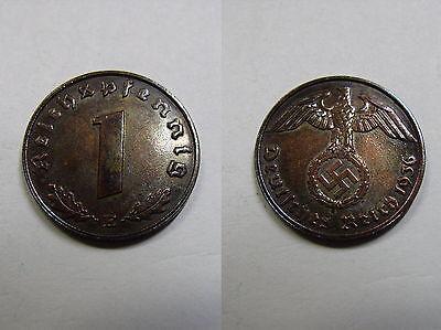 3. Reich , 1 Reichspfennig 1936 E  ST , Jäger 361 , # 87
