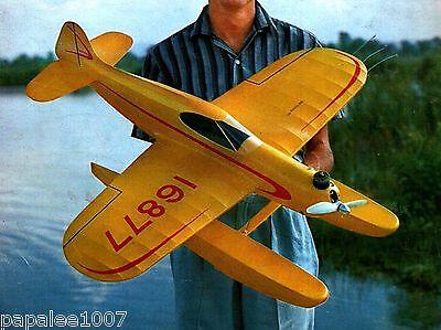 "Model Airplane Plans (UC): SURE FUN 36"" Sport Floatplane for .35 Engine"