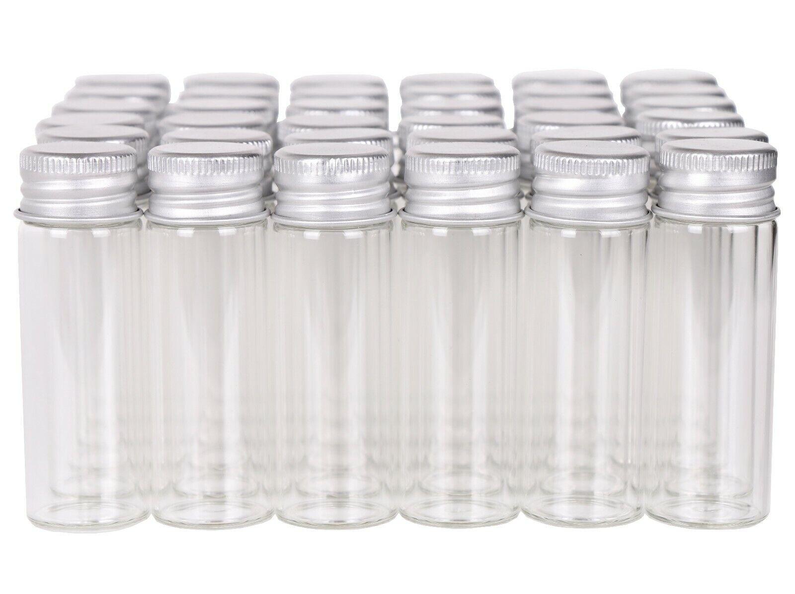 100X 15ml Small Glass Bottles Tiny Vials Mini Jars with Alum