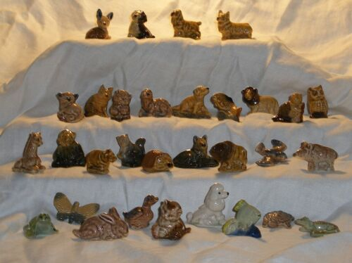 Wade Red Rose Tea/ Canadian Tea Boxes Only/1st Set 1967-1973/ Whimsie Figurines
