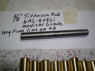 58 Titanium Round Rod 1 Pc. 58 X 6 6al-4veli 23 Polishedfine Line On Od