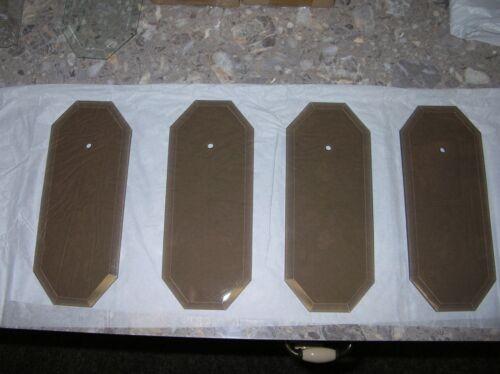 Vintage Amber Starburst Chandelier Replacement Glass 4 pieces Flat
