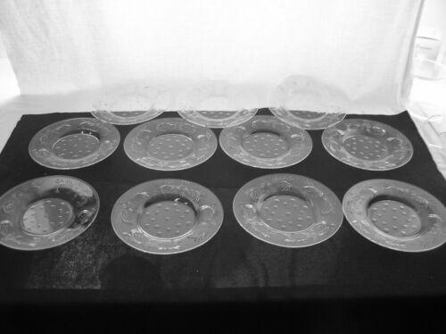 AMERICAN BRILLIANT CUT GLASS SET OF 10 HAWKES DESSERT OR SANDWICH PLATES