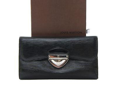 Authentic Louis Vuitton Eugenie wallet Epi black leather M63882