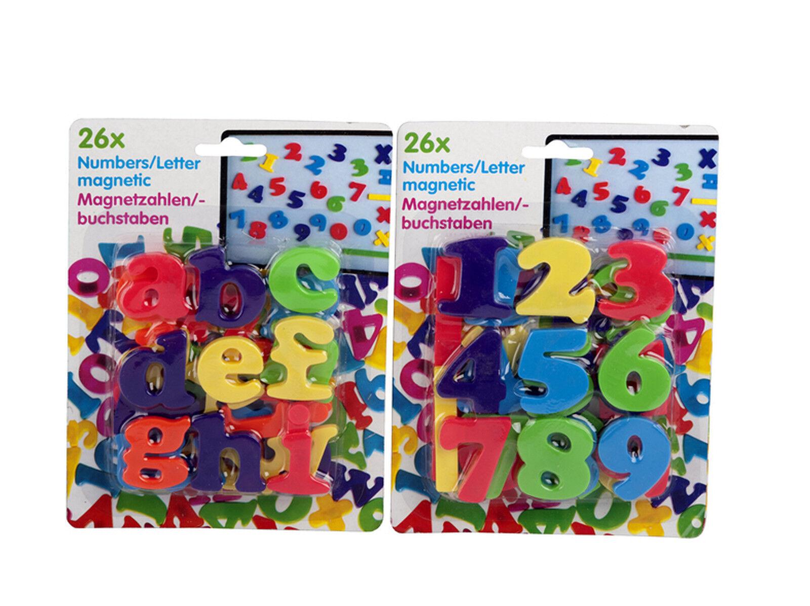 52 tlg. Magnetbuchstaben und Zahlen im Doppelpack je 1Pg. Buchstaben, 1Pg Zahlen