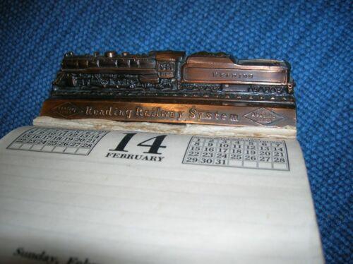VINTAGE READING RAILWAY SYSTEM DESK 1953 CALENDAR PENNSYLVANIA TRAIN ADVERTISING