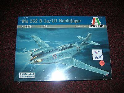 Italeri 2679 Me 262 B-1a UI Nachtjager list $61.00 1/48 sealed lot 11128