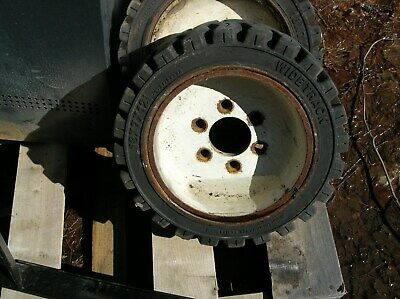 3 Clark Tm15 Forklift Wheels And Tires 18x7x12 18 Used Good Condition