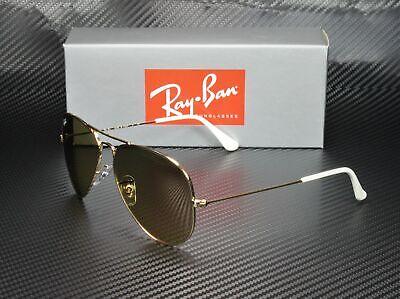 RayBan RB3025 001/3K Aviator GOLD BROWN MIRR SILVER GRAD. 62 mm Men's (Gold Rayban Aviators)