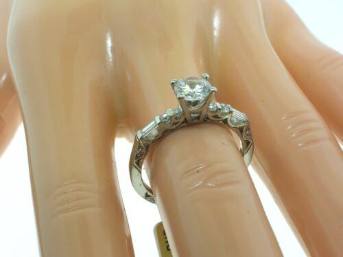 Tacori Platinum 2585rd Mounting 0.29 Ctw Diamonds + Box-size 6.5 Us-retail $3350