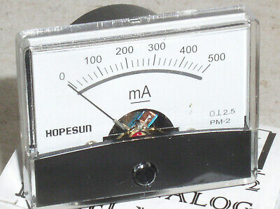 New 500 Ma 500ma .5a Dc Milliamp Current Amp A Ammeter Analog Panel Meter Usa