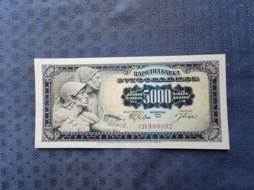 Yugoslavia 5000 dinara 1963, aUNC/UNC