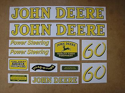 John Deere 60 New Decal Set For Tractors  19-18-1