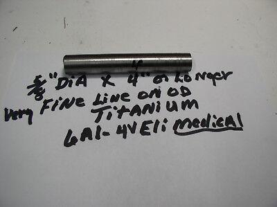 58 Titanium Round Rod Bar 1 Pc.58 X 4 Medical Grade 23 6al-4veli