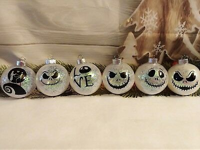 Nightmare before christmas ornaments (6pc set) only while supplies last!!!!!