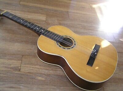 3pt8 VINTAGE VICTORIA ACOUSTIC GUITAR SPRUCE W/ INLAY ¾SZ 6-STRING MADE IN JAPAN