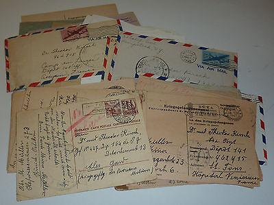 Kriegsgefangenenpost Sammlung 75 Briefe / Belege Rotes Kreuz Zensuren etc.