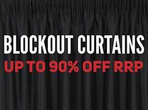 BLOCKOUT CURTAINS - UP TO 90% OFF RRP Granville Parramatta Area Preview
