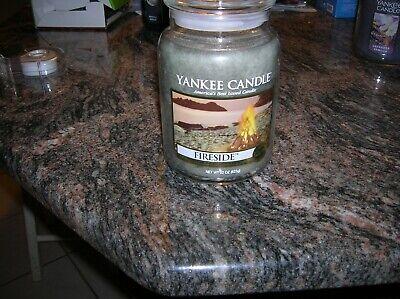 YANKEE CANDLES 22 OZ 1-FIRESIDE ,GREAT FRAGRANCE BALANCE, MUSK, WOODY, SHIP FREE
