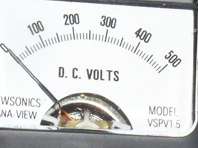 Vspv 1.5dc Mini 500v 300 V 200 100 Vdc Dc Volt Analog Panel Meter Voltmeter Usa