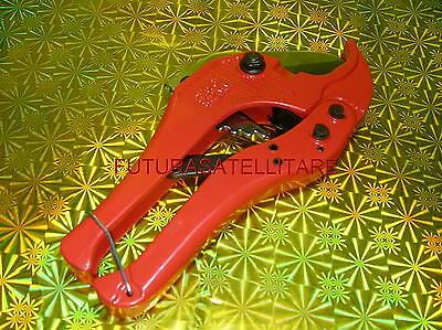 CESOIA PER TUBI IN PVC 42mm FORBICE A CRICCHETTO PER TAGLIA TUBI E CPVC
