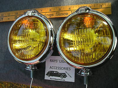 NEW SMALL OF 6 - VOLT AMBER VINTAGE STYLE FOG LIGHTS WITH FOG CAP ON LIGHTS !, used for sale  West Covina
