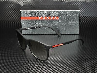 PRADA LINEA ROSSA PS 01TS DG00A7 Black Rubber Grey Gradient Men's Sunglasses