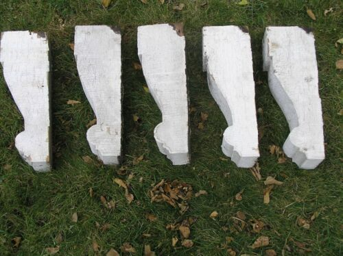 VINTAGE PORCH CORBEL ... LOT OF FIVE BRACKETS ... SHABBY CHIC ... ANTIQUE