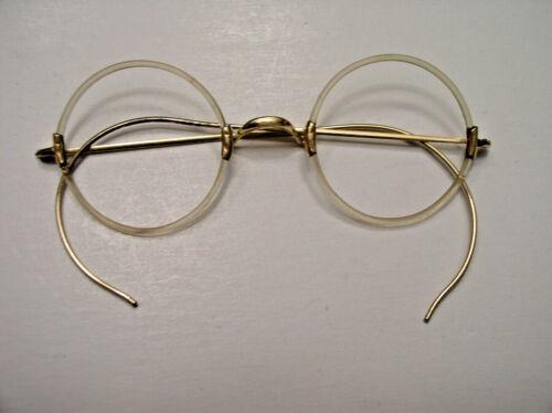 VINTAGE ARISTACRAT Eyeglasses 12K GOLD Fllled Celluloid Frames
