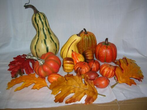 Set of 20 Pc Loose Leaves, Pumpkins/  Gourds/ Squashes for Fall Decorating