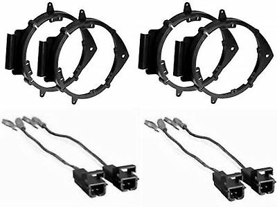 4 CAR TRUCK FRONT & REAR DOOR SPEAKER MOUNTING ADAPTER BRACKETS W WIRE (Front Door Speaker Adapter)