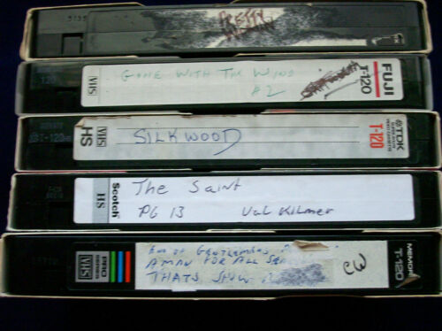 5 VHS Tapes Previously Recorded Sold as Blanks ~ Movies Commercials