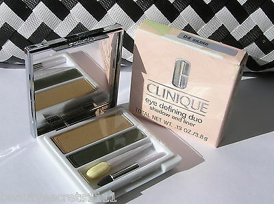 Clinique - Eye Defining Duo - Shadow & Liner - #04 Guilded - Brand New & (Eye Defining Duo Shadow Liner)