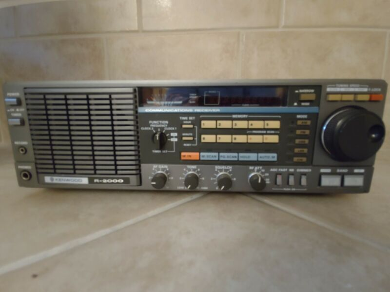 Kenwood R-2000 Communication Receiver with VHF Convertor