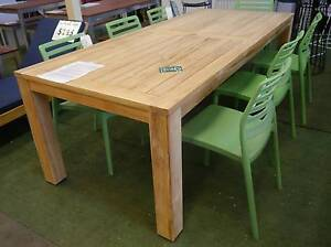 New Large FSC Teak Timber 2300 Dining Table Outdoor Furniture Melbourne CBD Melbourne City Preview