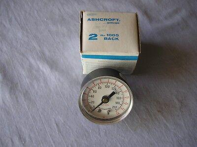 Pressure Gauge Ashcroft No.1005 200 Psi Aluminum